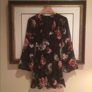 LuLus Long Sleeve Ruffle Dress
